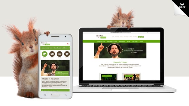 Parel Promotie portfolio webdesign Theater in 't Groen